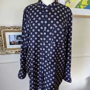 Banana Republic silk blouse. XL. EUC.